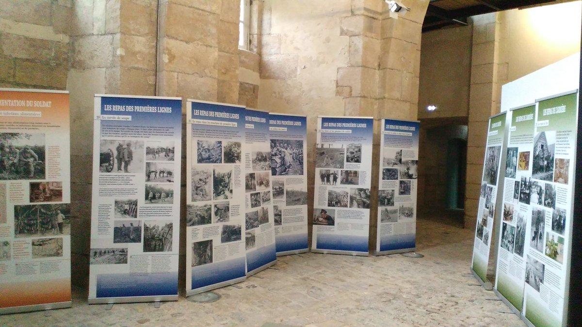 Aperçu de l&#39;exposition NOURRIR AU FRONT dans l&#39;ancienne rôtisserie du palais épiscopal !  #Verdun  #centenaire #guerre1418 #WW1<br>http://pic.twitter.com/2ska83xB8j