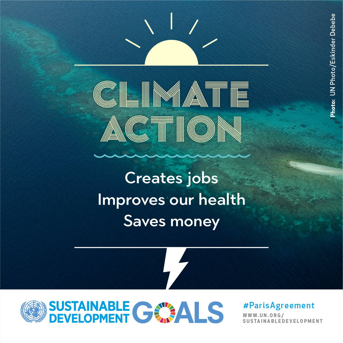 The #ParisAgreement on Climate Change is just the start. Climate action is unstoppable. Here&#39;s why:  http:// bit.ly/climateUN  &nbsp;   #GlobalGoals<br>http://pic.twitter.com/ZQKXcc0G7r