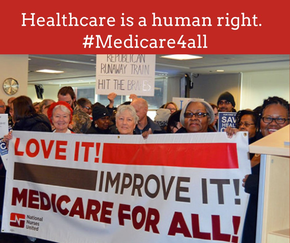 The healthcare plan our country really needs -&gt; #Medicare4All  Unlike the #AHCA,  #Singlepayer let&#39;s everybody in, nobody out! <br>http://pic.twitter.com/qoecf8NFpa