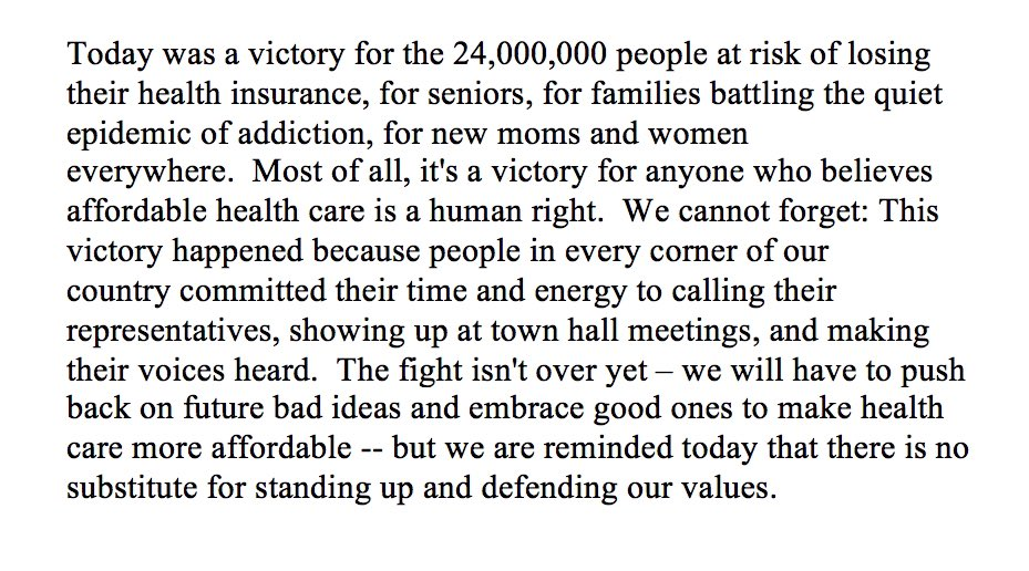 Today was a victory for all Americans.