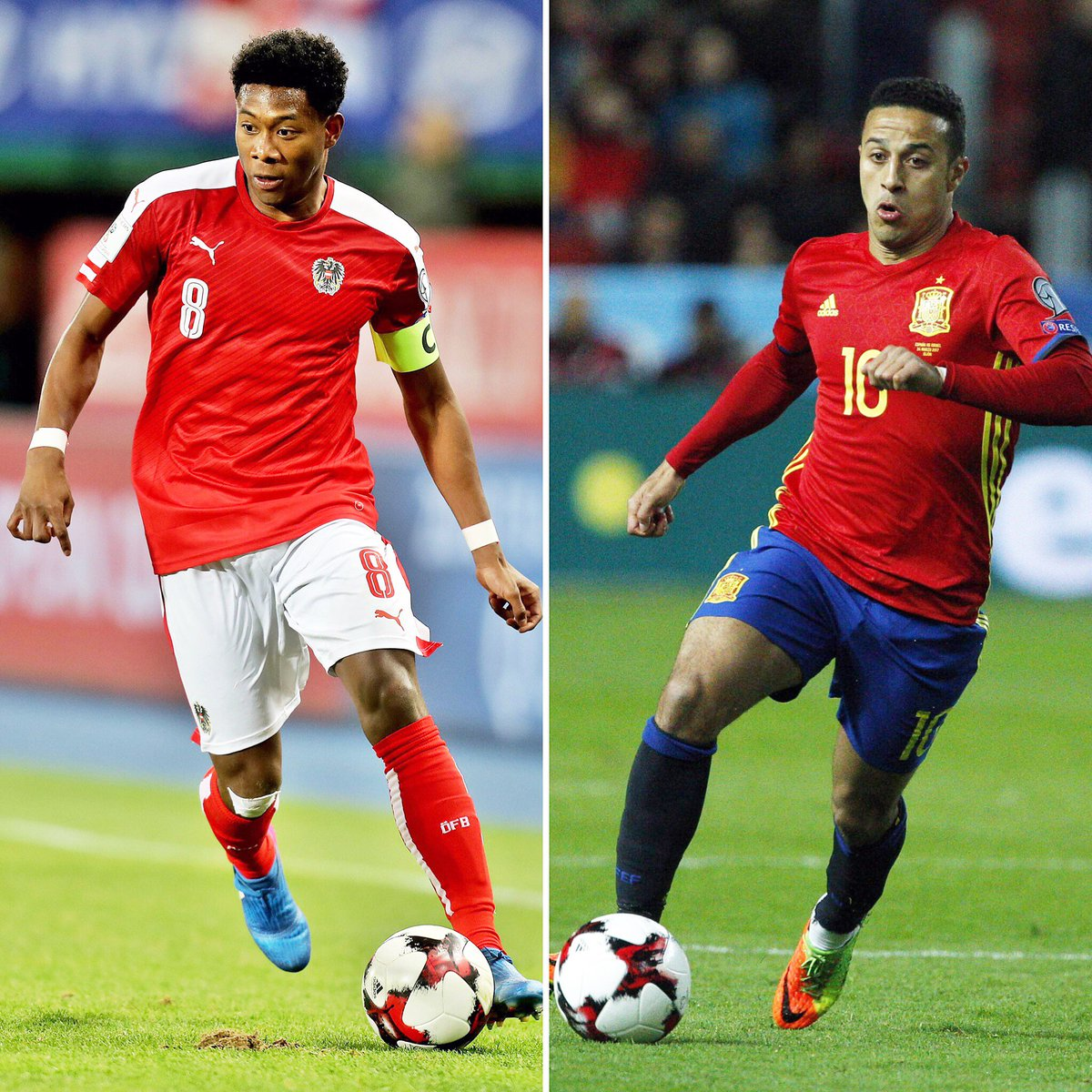 #AUTMDA 2:0 ☑️ #ESPISR 4:1 ☑️ Glückwunsch, @David_Alaba & @Thiago6...
