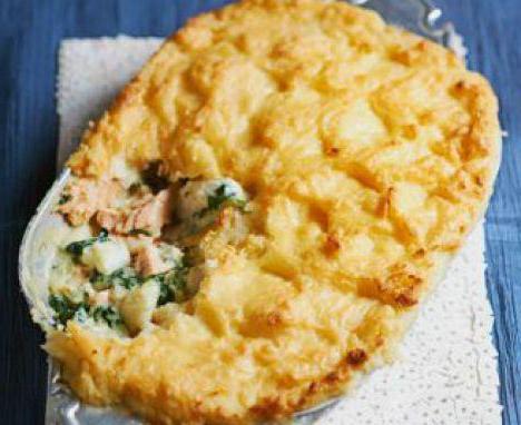 рецепт пирога с рыбой на кефире