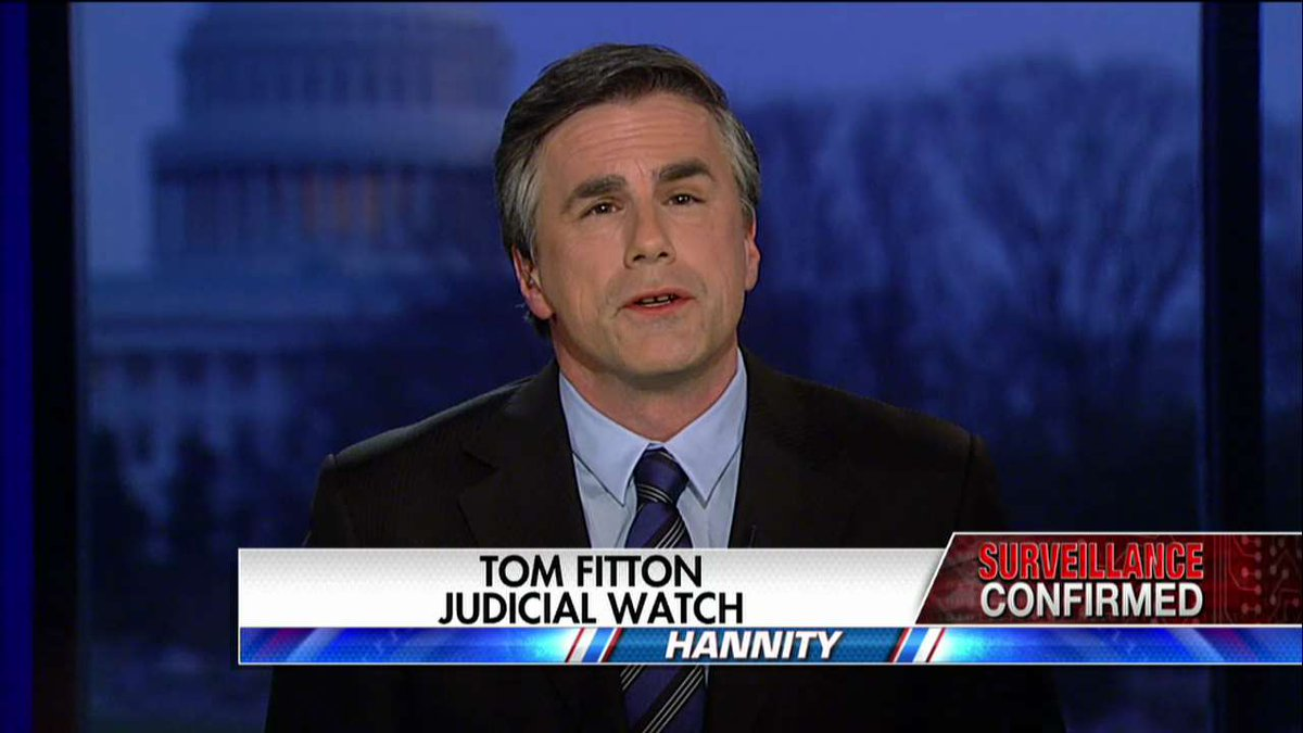 """.@TomFitton: """"Unmasking is a nice way of saying they were sending around gossipy information about the President's advisers..."""" #Hannity <br>http://pic.twitter.com/cszXn5EMPR"""