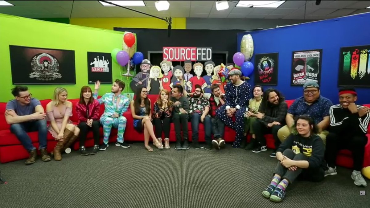So this is how it ends huh? the best people in the world in a bunch on couches @sourcefed @SourceFedNERD #SourceFedMemories 😭😭😭 https://t.co/U9sFDIfdkf