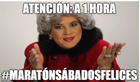 Si quieres ser parte de la #MaratónSábadosFelices  envía tu mejor chis...