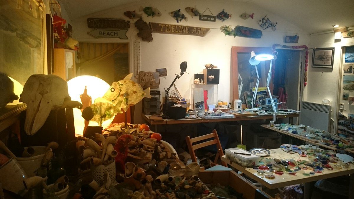 Happy to refind Tideline Studio after a couple months away.My retreat ~ surrounded by all the things I love!  #haven #mudlarking #treasures <br>http://pic.twitter.com/rm6K4qgqoq