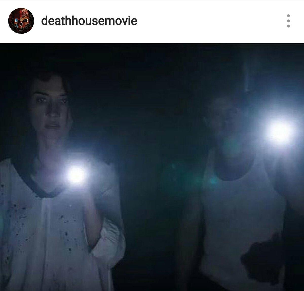 #FilmsIn3Words Nudity🙈. Bloody🔪. Action-y🔫. @DeathHouseMovie https://t...