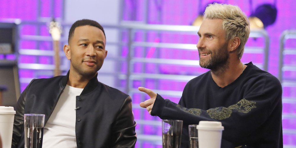 Chill out in the same room as @johnlegend and @adamlevine during #TheV...