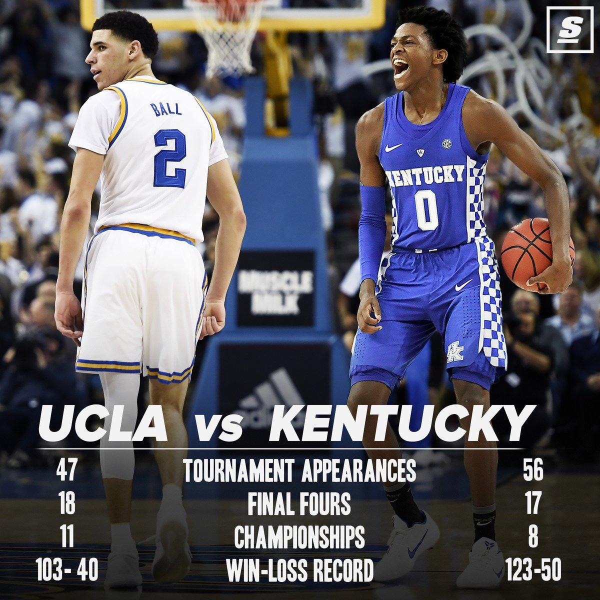 UCLA vs. Kentucky promises to be 🔥. #Sweet16 https://t.co/ti8vRwPVlq