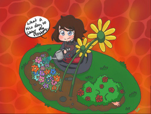 Just another day in hell #hell #leve #demon #flowers #lovelyday #chibi<br>http://pic.twitter.com/Bh8A7SLD0v