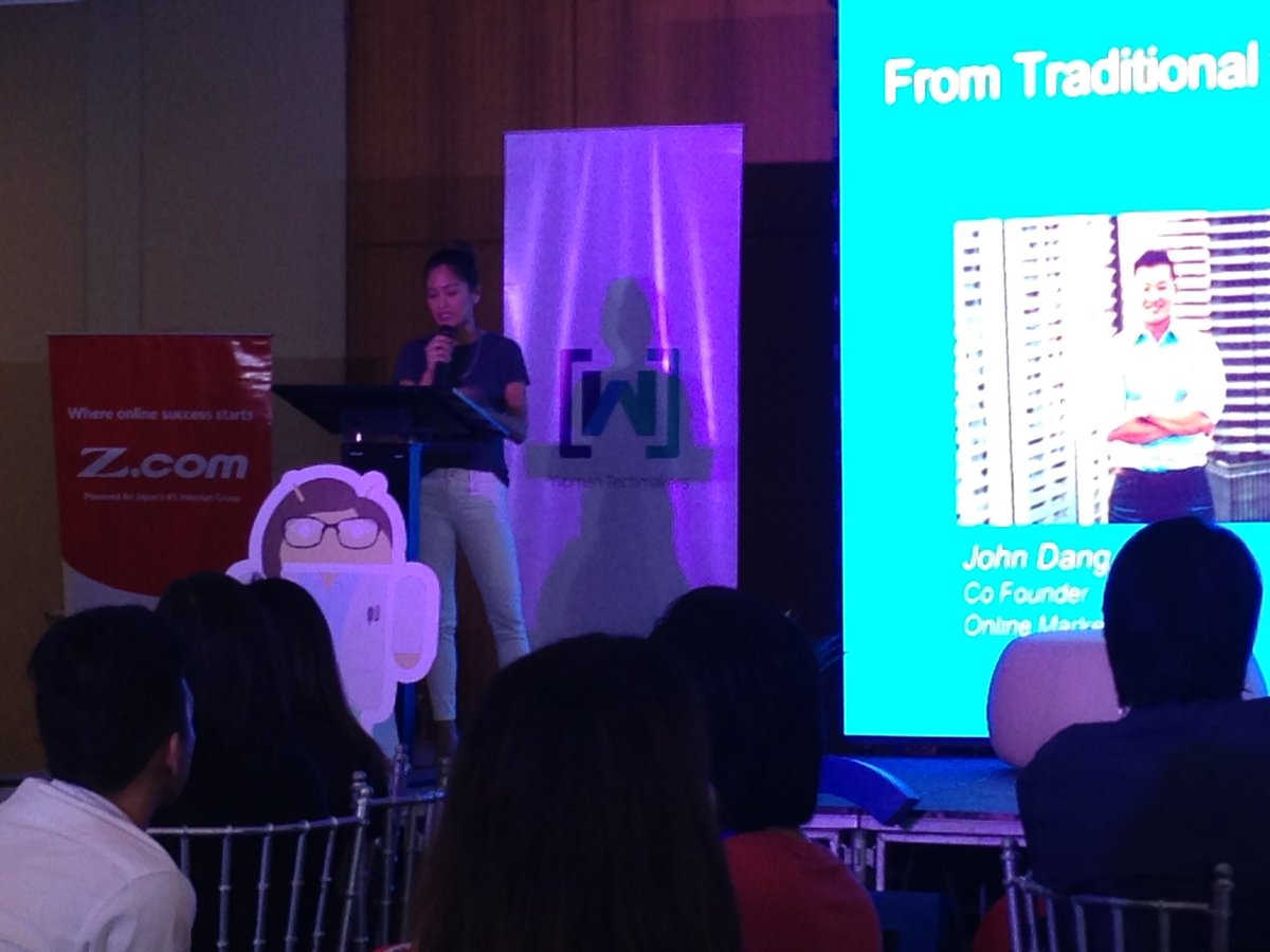 Now on stage, Ms. Chow Paredes, co-founder of ZipMatch  #GDGPH #WTM17 #WomenTechmakers  #USTCODEC https://t.co/LOGXfYAUFN