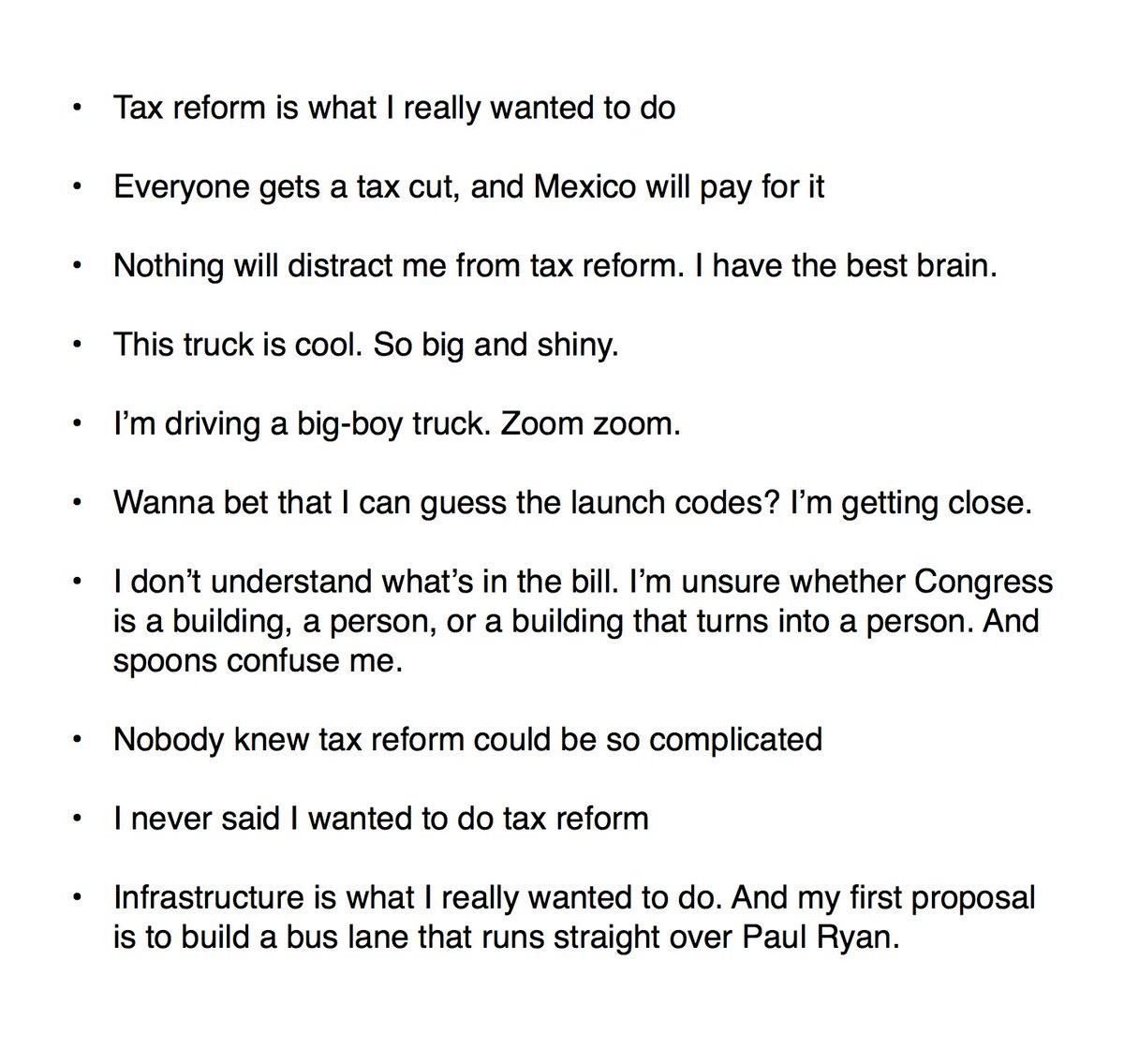 Timeline Of Tax Reform