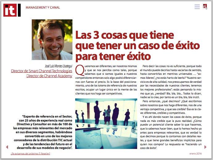 [Descarga Gratuita] Revista @ITReseller_ES #Enero ¡y nuestro artículo por @JoseLuisMontes! ➜  http:// bit.ly/ITResellerEne  &nbsp;  <br>http://pic.twitter.com/W0z4uvU4Ku