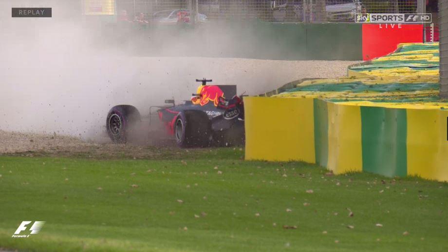 WATCH: Daniel Ricciardo's home #AusGP qualifying woe as crash leaves h...