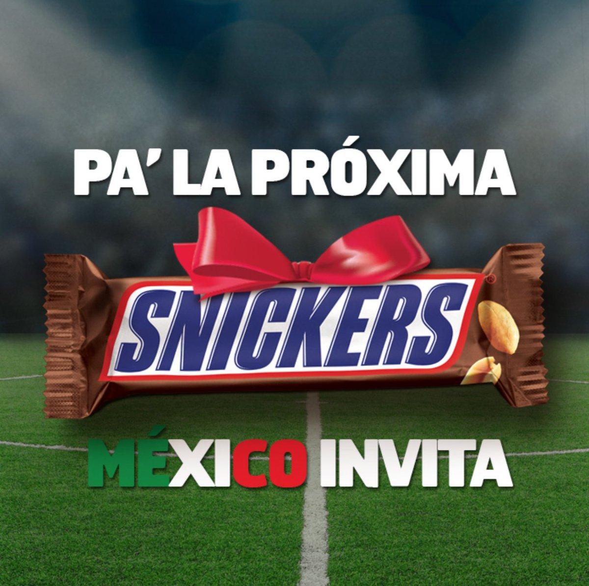 ¡Se quedaron con hambre, hermanos ticos! ahí les va un Snickers de consolación. #MexicovsCostaRica https://t.co/kCPnCLRCDB