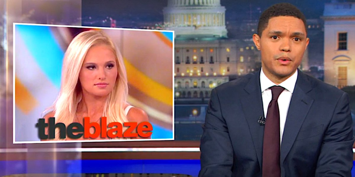 Trevor Noah wanted to protest Tomi Lahren's suspension -- but couldn't huff.to/2mAj1gu