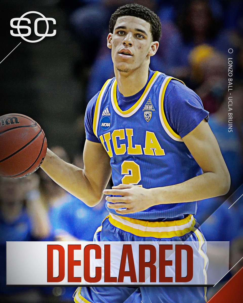 This Just In: Lonzo Ball says he's played his final game for UCLA and...