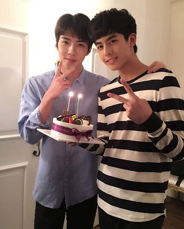 170325 song.weilong Instagram update with #EXO Sehun