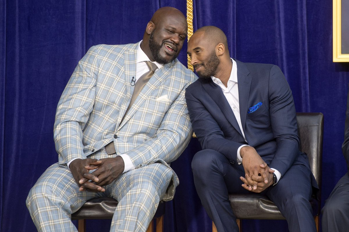 Shaq: How my ass taste?  Kobe: Like 3 Finals MVPs and butterscotch htt...