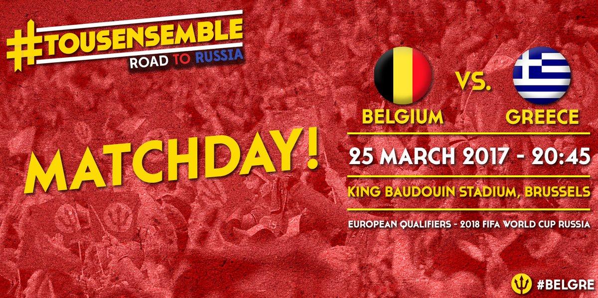 MATCHDAY !! Belgium vs Greece @EthnikiOmada ! ⚽ #belgre #roadtorussia...