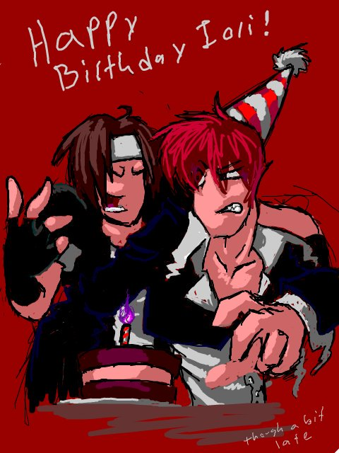 March 25th. Happy Birthday Iori Yagami! 42 years old.