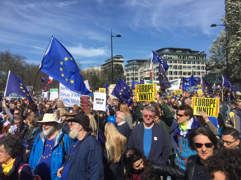 Great turnout at #uniteforeurope march ! https://t.co/ML5Gfkvo21