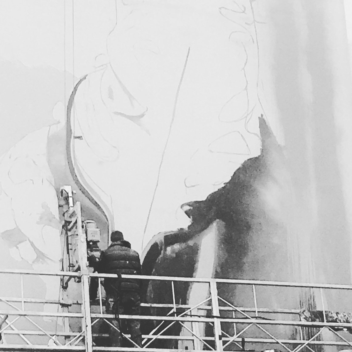 Work in progress #conorharrington #paris13  #urbanart #arturbain #streetart  #muralism #streep @Streepart @g_itinerrance #streetart13<br>http://pic.twitter.com/THLklxAqUb