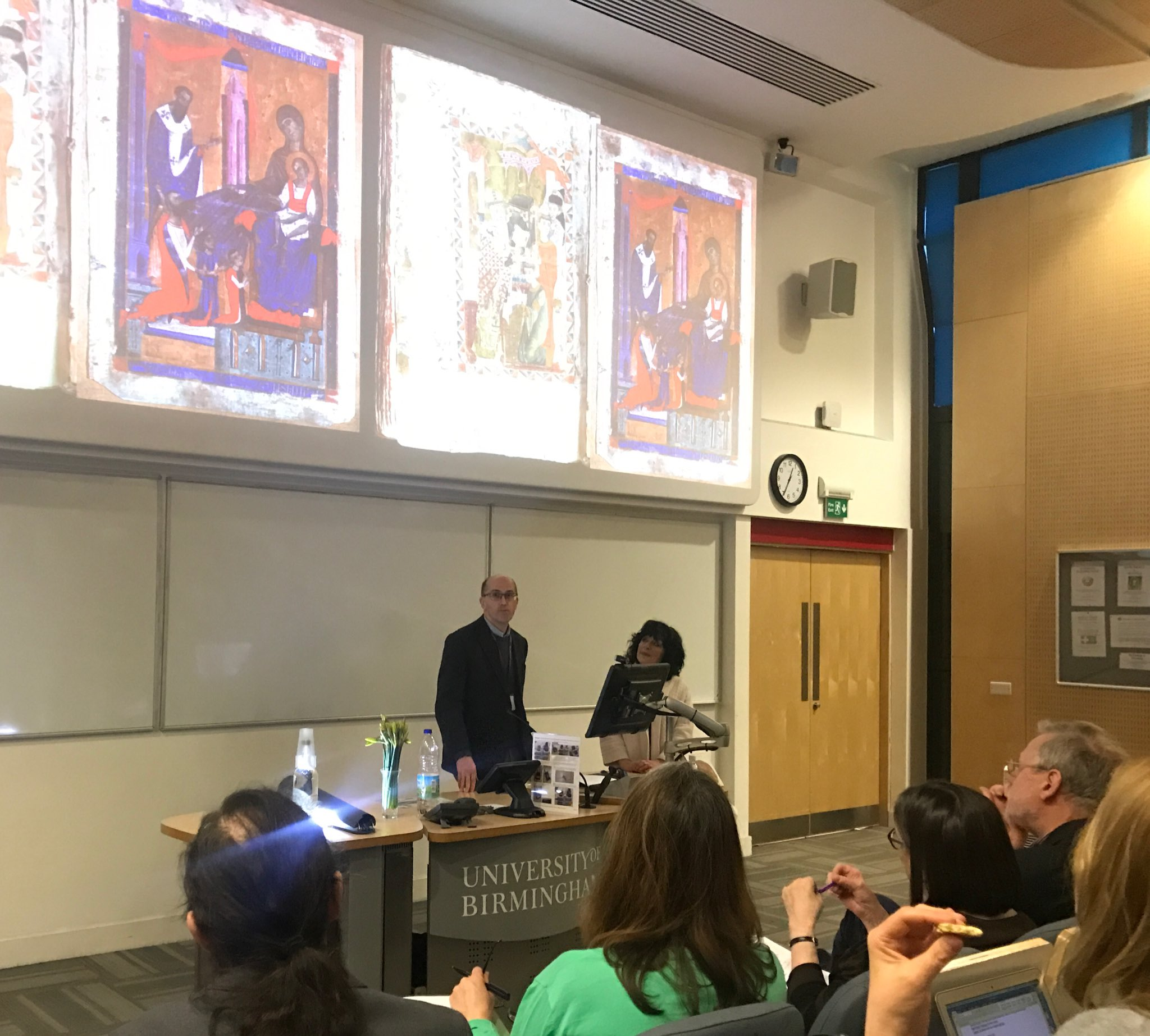 "Prof Anthony Eastmond @CourtauldStudy presenting ""Constantinople: global or local?"" at #GlobalByzantium 50th SPBS Symposium @unibirmingham https://t.co/trscqKiSEL"