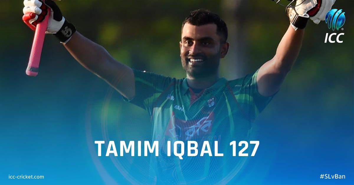 What a knock! Tamim Iqbal's 8th ODI century powers Bangladesh to 324/5 against Sri Lanka