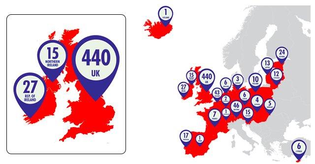 Sportsdirect map