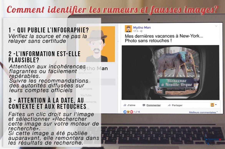 #Rumeur  #FakeNews Sachez détecter une fausse information pour ne pas la relayer sur les réseaux sociaux !  #Hoax<br>http://pic.twitter.com/DyuaSsg4WN