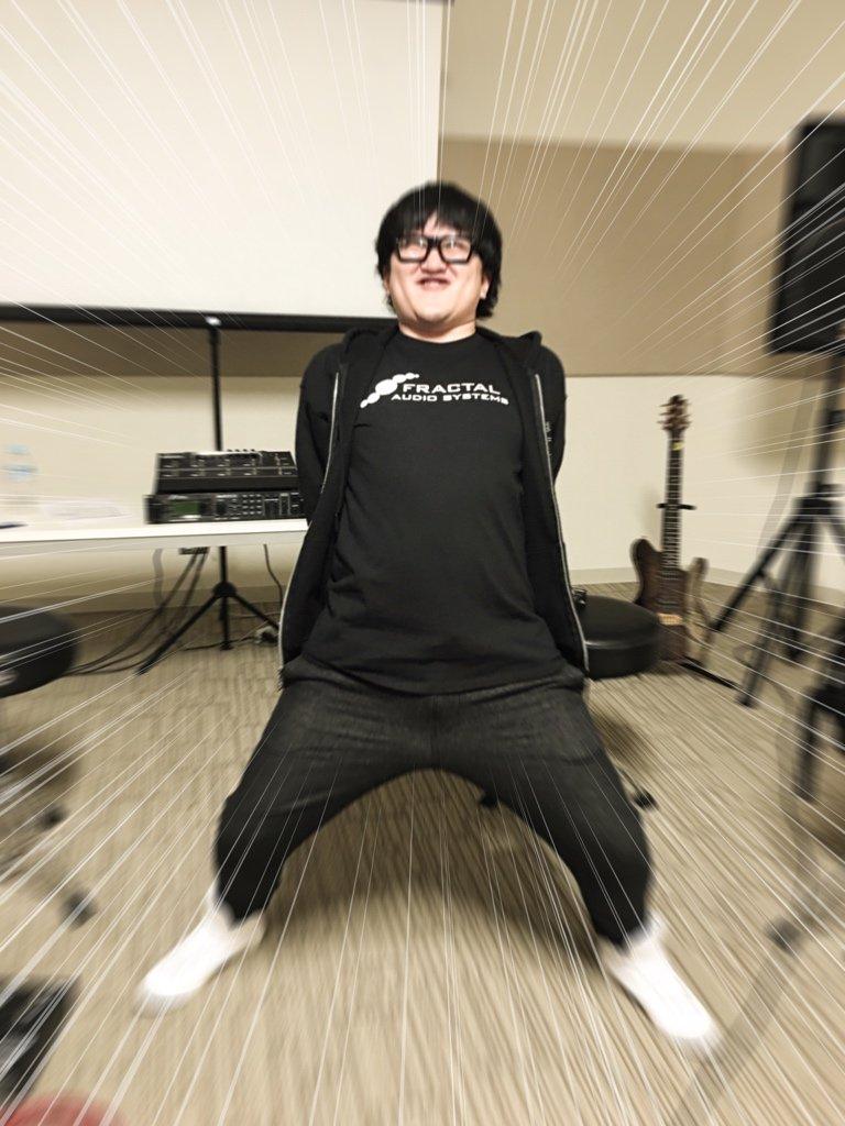 空前絶後のォォォォ!!! 超絶怒濤のギタリスト! Fractal Audioを愛し!Fractal Audioに愛された男ォォ!!!!!! https://t.co/rQVvAdPLfC