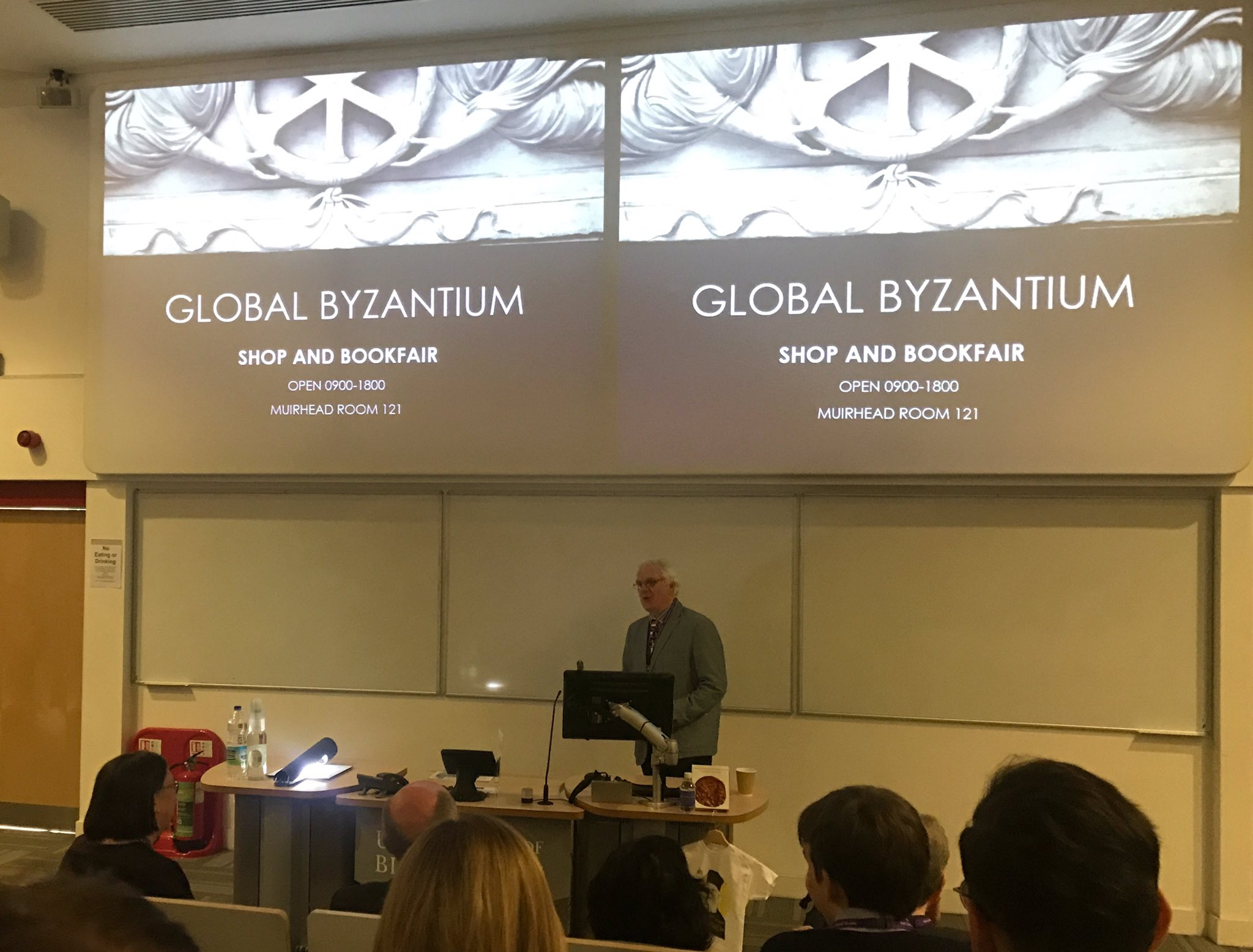 Prof Michael Whitby welcoming at #GlobalByzantium @unibirmingham https://t.co/fLRmwWGB3o