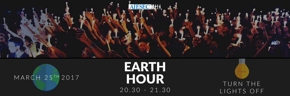 Earth Hour is a worldwide movement to annually encouraging people to turn off their non-essential lights for one hour. Happy Earth Hour! https://t.co/KwxYQis02t