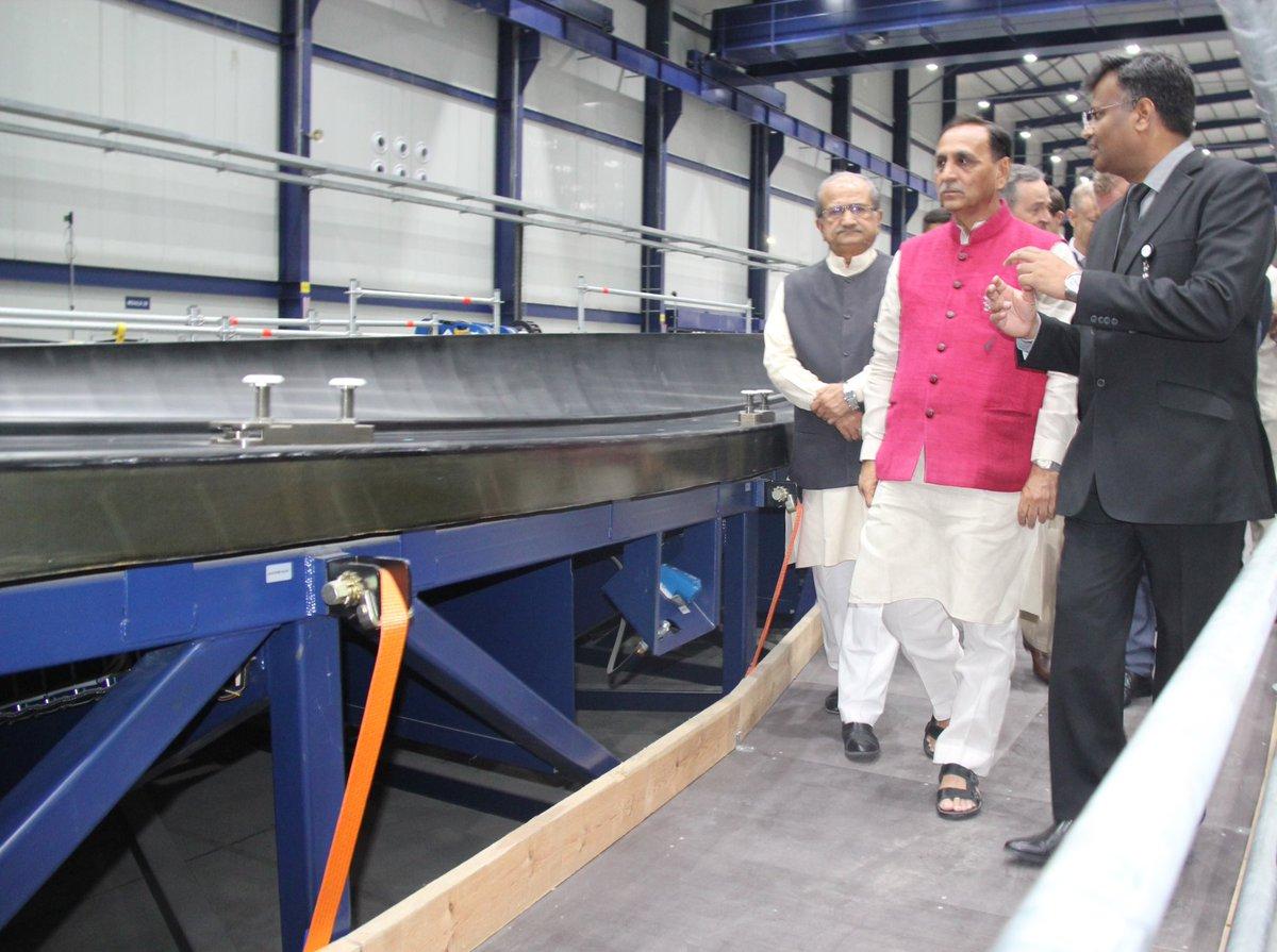 Gujarat Cm Inaugurates Vestas Wind Power Blade Plant At