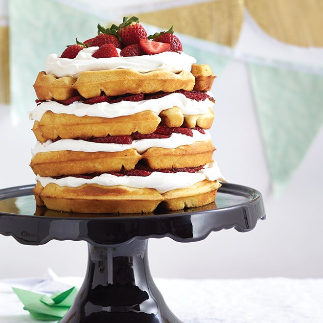 Celebrate #InternationalWaffleDay with this fabulously fluffy strawber...
