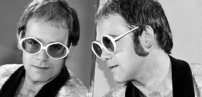 Happy 70th birthday to Elton John. Photo from 1972.