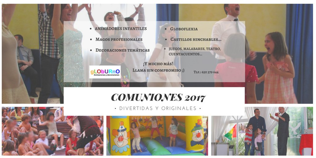 Celebrar las #Comuniones más divertidas de #Madrid: #animadores, #magos, decoraciones, #globoflexia... y mucho mas! Llámanos al 650 379 644!<br>http://pic.twitter.com/54bHU2PdQf