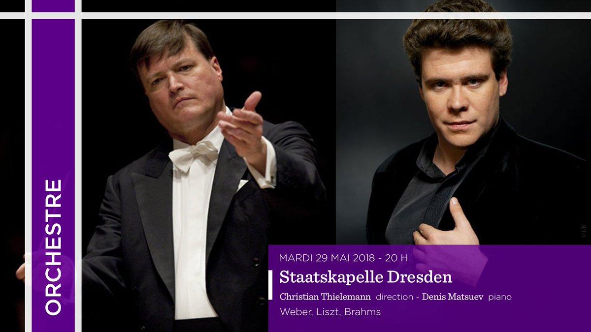 #TCE1718   29/05 #ChristianThielemann @DenisMatsuev @StaatskapelleDD dans le 2e #concerto #piano de #Liszt et Une vie de héros de #Strauss<br>http://pic.twitter.com/CIlNITWVFT