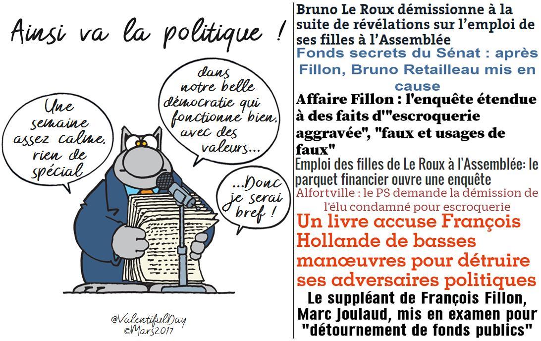 #Presidentielle2017  AINSI VA LA POLITIQUE!! L&#39;Hebdo #democracy #transparence #LeRoux #Fillon #Hollande #Joulaud #PS #LR • 25/03 à RT!<br>http://pic.twitter.com/0WEEivXkcT