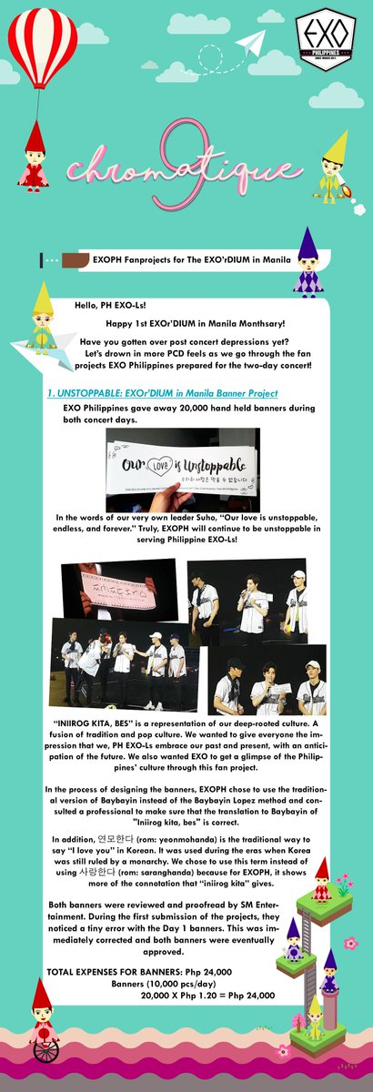 [FANPROJECT] CHROMATIQUE 9  Happy 1st #EXOrDIUMinManila Monthsary! Relive the cons&#39; fan projects with us!  HDLink:  https:// tinyurl.com/EXOPH-TEDinMNL  &nbsp;  <br>http://pic.twitter.com/8G7hzadqPf