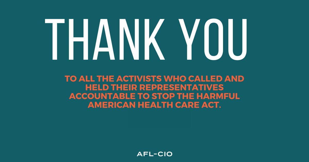 We defeated the awful Republican health care bill!  http:// aflcio.shpg.org/287490135t  &nbsp;   via @AFLCIO #1u <br>http://pic.twitter.com/abAk9r3FzU #ProtectOurCare