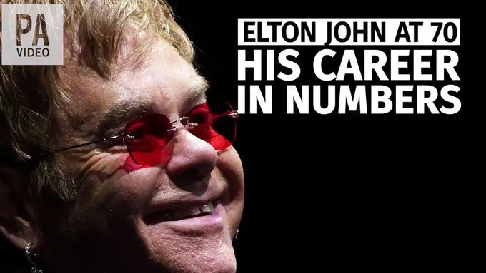 Happy 70th Birthday to Elton John! Here\s a quick look back at his remarkable career.