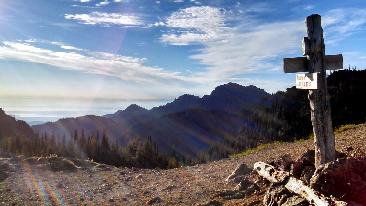 Sunrise lights up the Marmot Pass in Olympic National Forest. #Saturda...