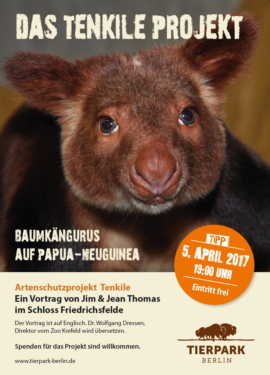 Zoo Tierpark Berlin On Twitter Einen Vortrag über Die Baumkängurus