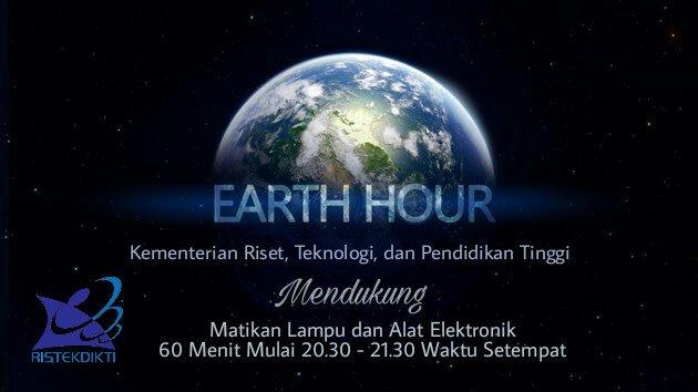 Ayo Sobat Ristekdikti, Satu Jam untuk Bumi yang Lebih Baik. #EarthHour...