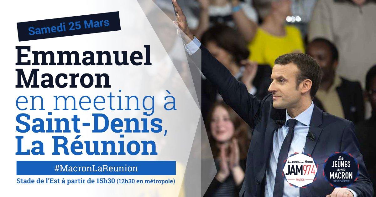 #DIRECT @EmmanuelMacron est en meeting au stade de l&#39;Est à Saint-Denis à La Reunion #MacronLaReunion  https://www. facebook.com/EmmanuelMacron /videos/1935838103315433/ &nbsp; … <br>http://pic.twitter.com/zpRfXDNBmc