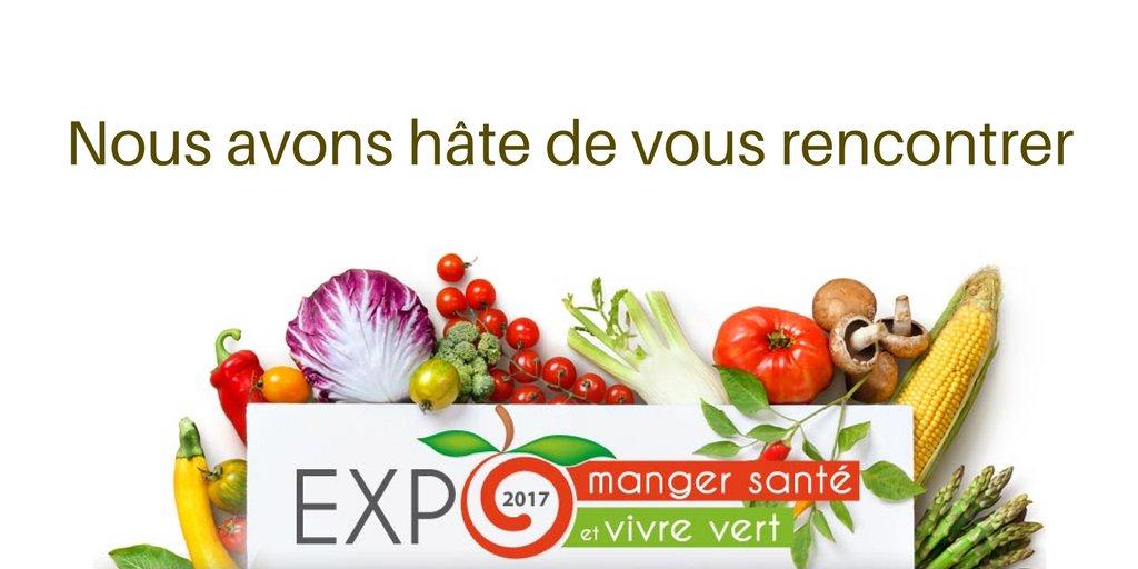 Nous vous attendons au kiosque 221 à l'@ExpoMangerSante à Montréal aujourd'hui! https://t.co/T4AZjqADfR