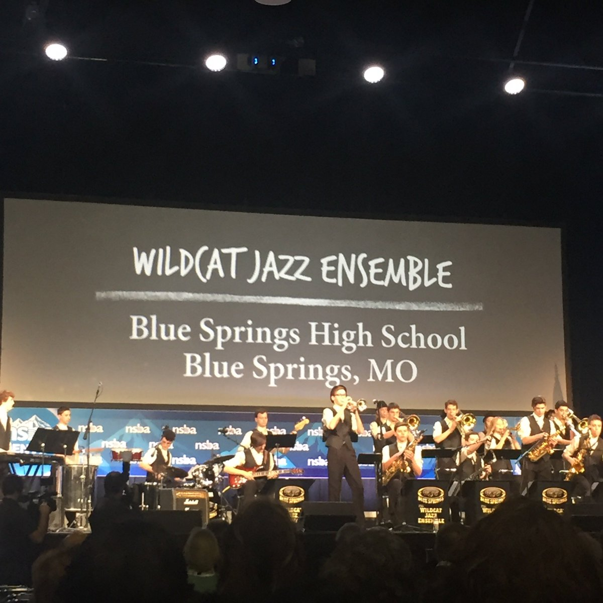 Great opening performance by the Wildcat Jazz Ensemble @NAMMFoundation...