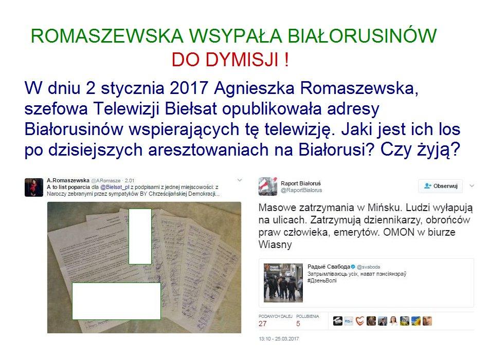 Znalezione obrazy dla zapytania romaszewska twitter